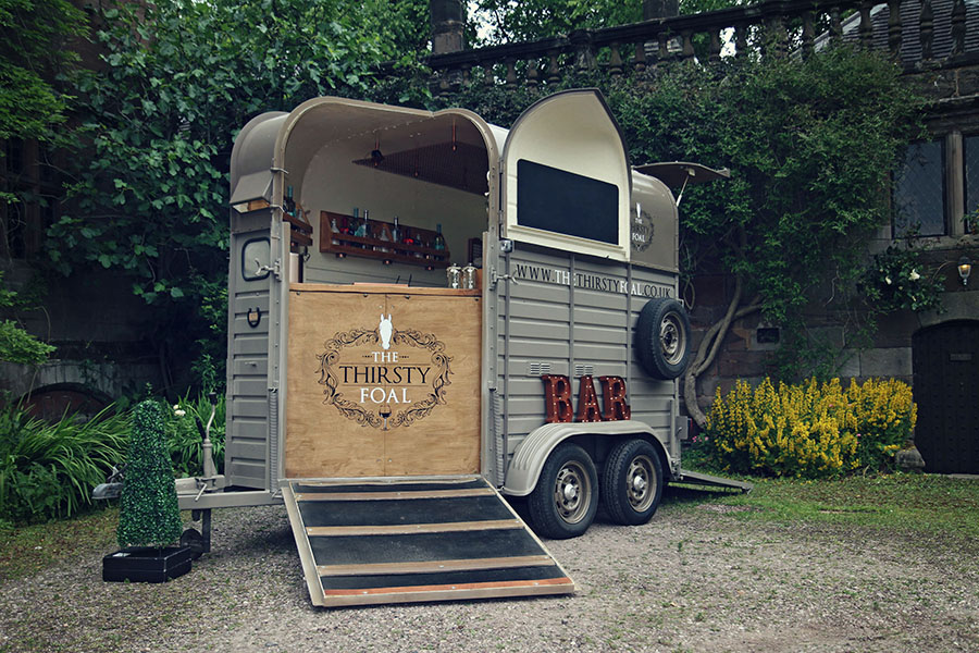 The Thirsty Foal Mobile Bar Event Bar Horse Box Bar